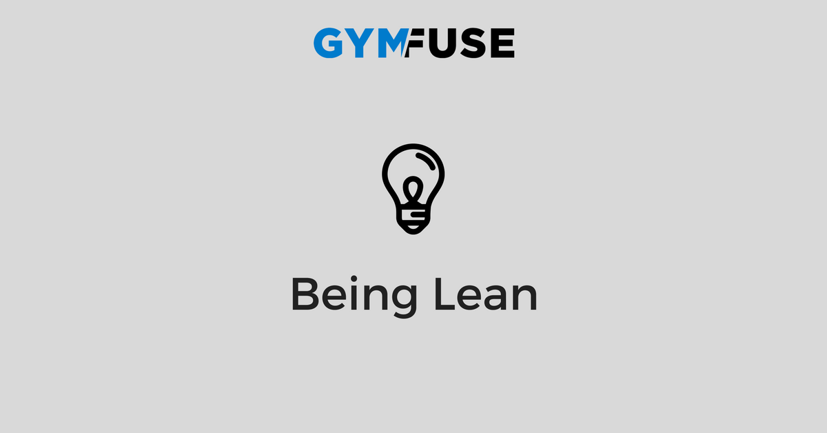 Being Lean