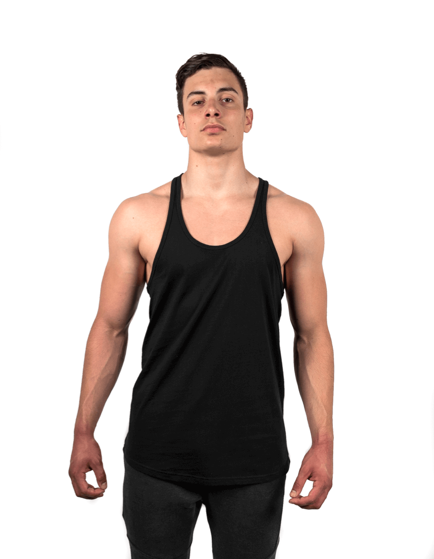 Black Stringer Vest