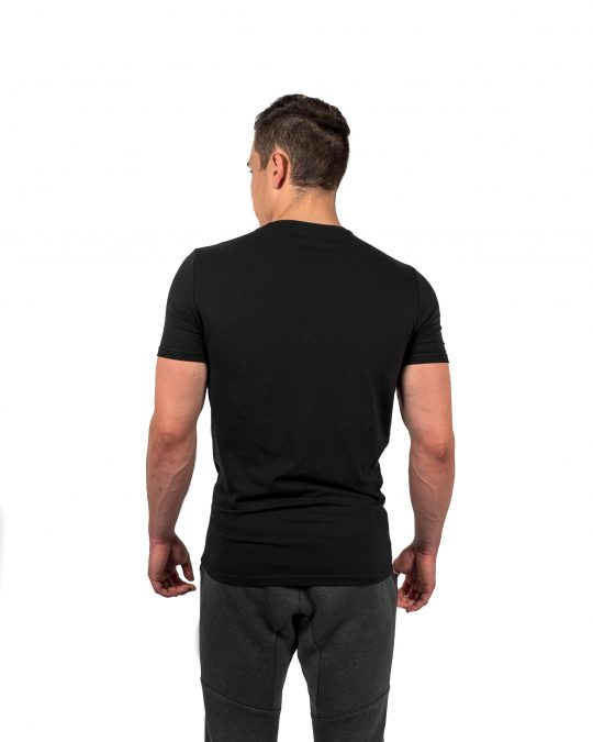 Muscle Fit Tee Black Rear