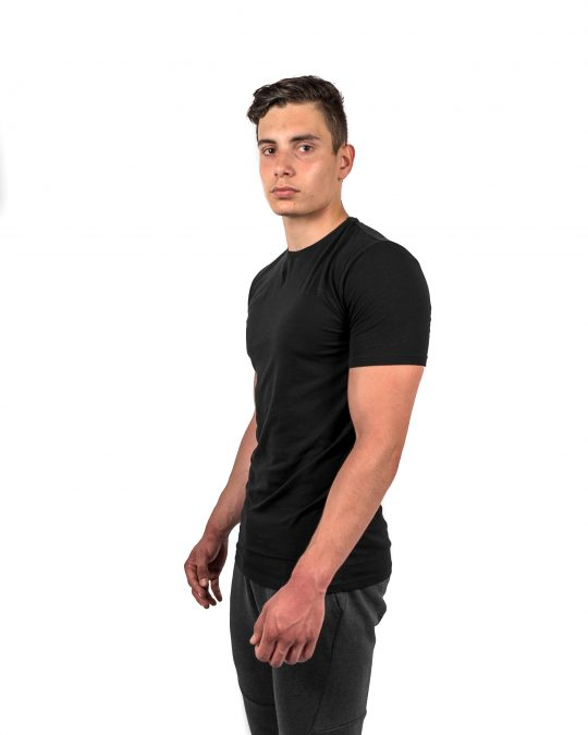Muscle Fit Tee Black Side