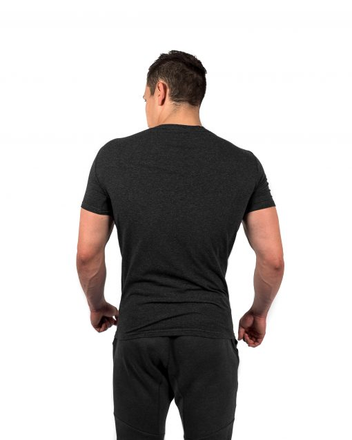 Muscle Fit Tee Grey Rear