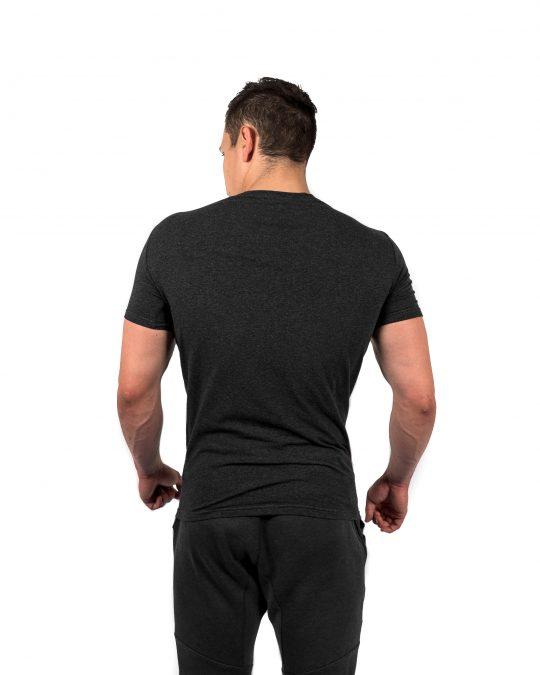 Muscle Fit Tee Grey Rear