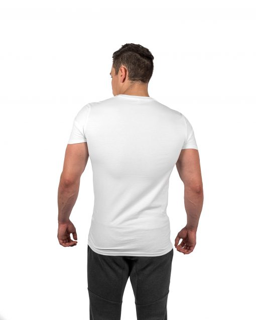 Muscle Fit Tee White Rear
