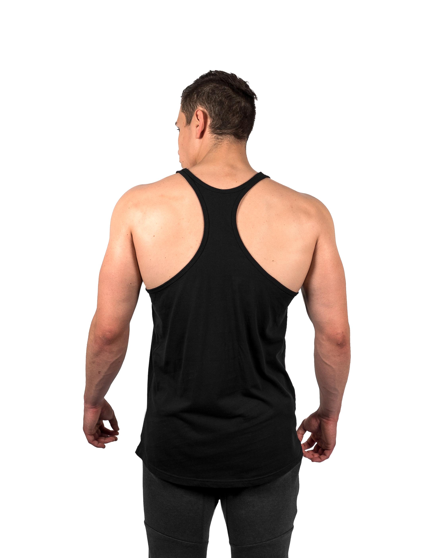 Classic Stringer Vest Black Rear