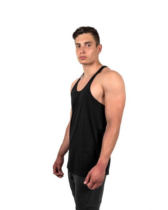 Classic Stringer Vest Black Side