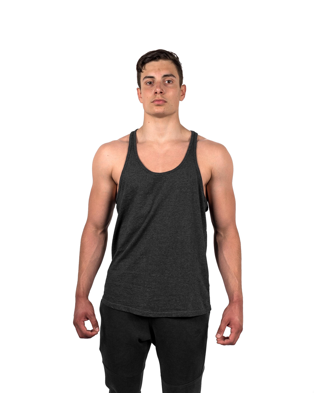 Classic Stringer Vest Charcoal Front