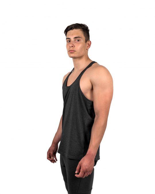 Classic Stringer Vest Charcoal Side