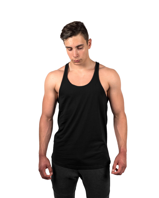 Classic Stringer Vest Black Front