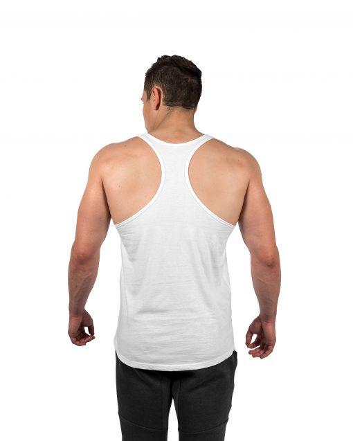 Classic Stringer Vest White Rear