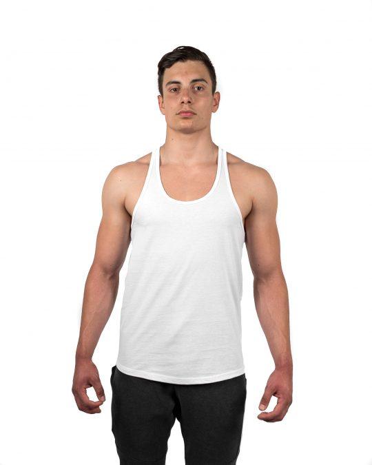 Classic Stringer Vest White Front