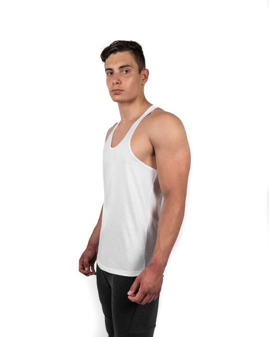 Classic Stringer Vest White Side