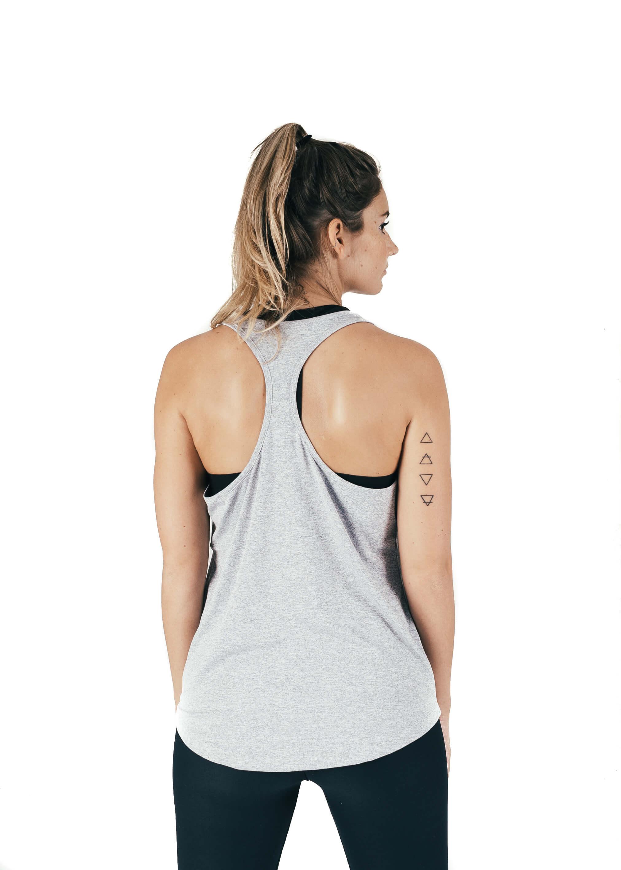Women's Tank Grey Rear
